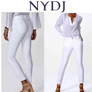 NYDJ's Lift Tuck Ankle best White jeans size 8P